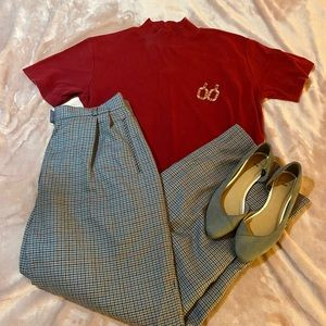 High-waisted Vintage Pendleton Trousers
